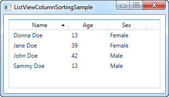 How-to: ListView with column sorting - The complete WPF tutorial
